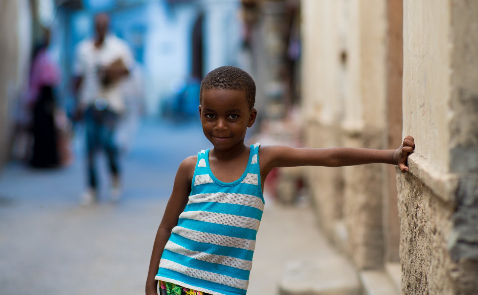 Streetkid in Stone Town of Zanzibar