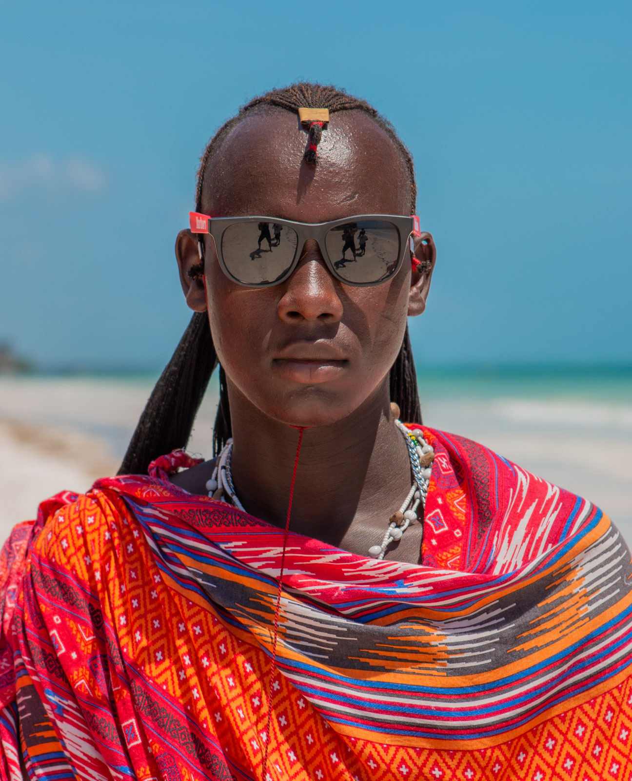 Maasai working on the beaches of Zanzibar